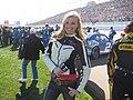 Vegas08 Nascar Mieke-interviews-drivers-pre-race.JPG