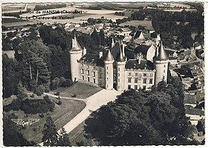 Château de Verteuil, Charente - 1922 postcard of the château