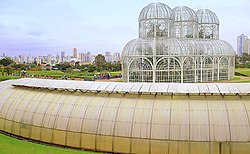 View of the Botanic Garden of Curitiba