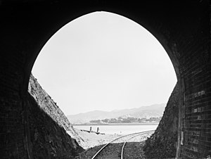 Thorndon, New Zealand - Thorndon 1880s from a Kaiwarra tunnel