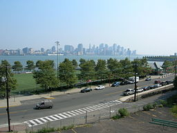 View of the New York City skyline as seen from Stevens Institute of Technology