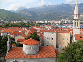 View over the Old Town of Budva from the Citadel.jpg