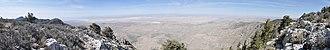 Bush Mountain (Texas) - Image: View west from Bush Mountain