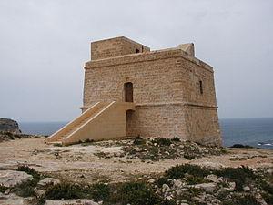 Dwejra Tower - Image: Vigie maltaise