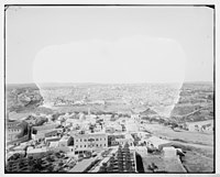 Village of Mount of Olives and Jerusalem from the tower of the Russian church LOC matpc.06690.jpg
