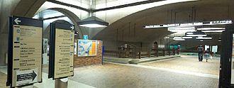 Underground city - Part of Montreal's underground city, a concourse in Bonaventure metro station