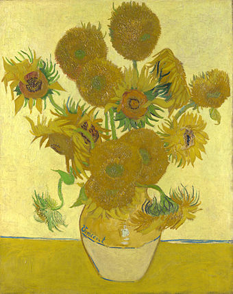 Still Life: Vase with Fourteen Sunflowers, August 1888. National Gallery, London