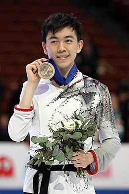 Vincent Zhou at the Four Continents Championships 2019 - Awarding ceremony.jpg