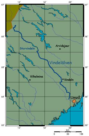 Vindel River - Image: Vindelalven