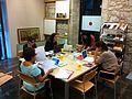 Viquiprojecte amb els Amics del Museu d'Art de Girona 04.JPG