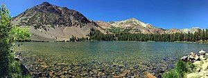 Virginia Lakes - Black Mountain, over upper Virginia Lake, Virginia Lakes, California