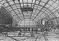 Vista interior del Palacio de Bellas Artes durante la prueba de la resistencia de la cúpula, 1910.jpg