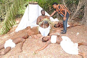 Nollywood - Image: Visual effects scene in a Nollywood movie