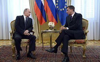 Borut Pahor - Pahor with Russian President Vladimir Putin, 30 July 2016.