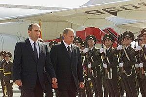 Armenia–Russia relations - Vladimir Putin in Armenia, 2001.
