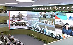 Vladimir Putin in National Centre for management of defence 03.jpg