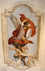 Saint Michael beats the Devil