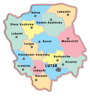 Volyn Oblast - Volyn Oblast districts.