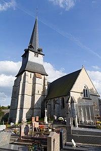 Vue nord-ouest de l'église Saint-Julien (Saint-Julien-sur-Calonne, Calvados, France).jpg