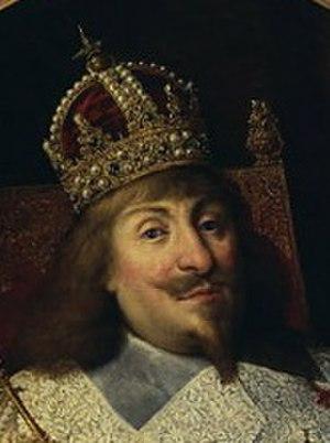 "Swedish Crown - Portrait of King Władysław IV Vasa in coronation robes (detail), wearing the ""Swedish Crown"""