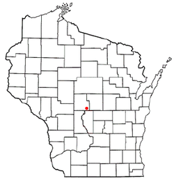 Location of Saratoga, Wisconsin