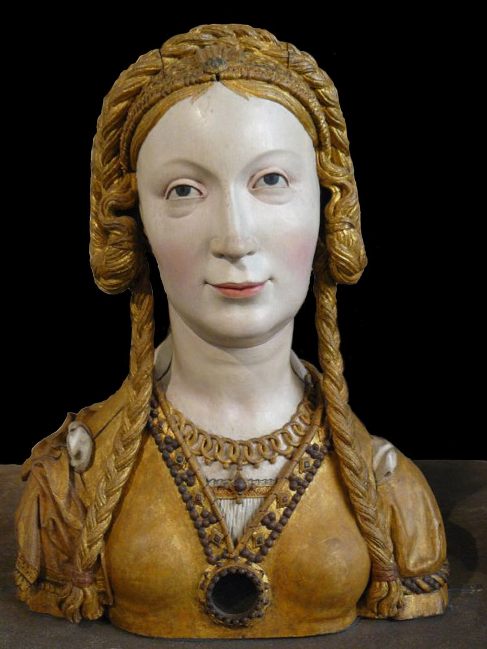 WLA metmuseum Reliquary Bust of a Female Saint