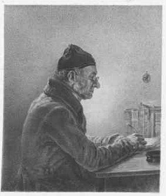 Jakob Gauermann - Portrait of Jakob Gauermann by his son Friedrich Gauermann, ca. 1843