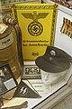 WW2 Nazi German Concentration camp SS Kommandantur kz Auschwitz sign Zyklon SS pennant Gift poison Totenkopf cap Trawniki Pole etc Lofoten krigsminnemuseum Norway 2019-05-08 DSC09923.jpg