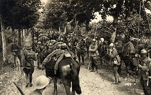 Pozzuolo del Friuli Cavalry Brigade - Italian lancers during World War 1