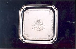 Salver - A waiter, a small square salver, London, 1732.