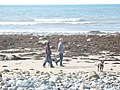 Walkers on the beach - geograph.org.uk - 243874.jpg