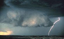 Wall cloud with lightning - NOAA - rotated.jpg