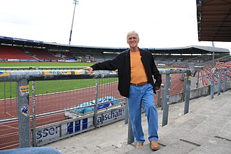 Eintracht Braunschweig - Walter Schmidt, one of the team's key players during the 1960s, pictured in the Eintracht-Stadion in 2009.