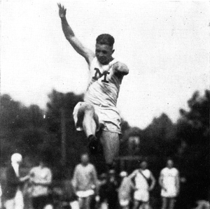 Walter Wesbrook - Wesbrook competing in the long jump, 1921