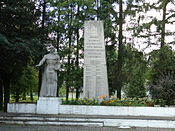 War monument in Zhydachiv.JPG