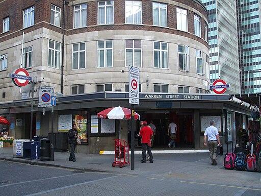 Warren Street stn entrance