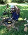 Washington Crossing NJ State Park volunteer demonstrating cooking.JPG