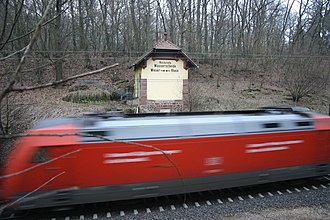 Main–Weser Railway - Signal box on watershed between Weser and Rhine rivers