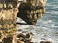 Wave erosion on a Portland Cliff - geograph.org.uk - 109895.jpg