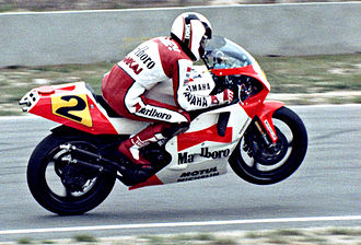 Wayne Rainey - Wayne Rainey on a Yamaha YZR500 in 1990
