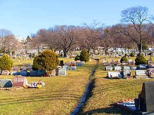 Weehawken Cemetery - East side of the Cemetery near the gate