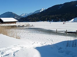 De Weissensee in de winter