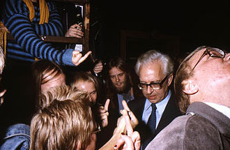 "Copenhagen December Riot - Mayor of Copenhagen Egon Weidekamp being ""welcomed"" by the users of the house when trying to visit the opening in 1982."