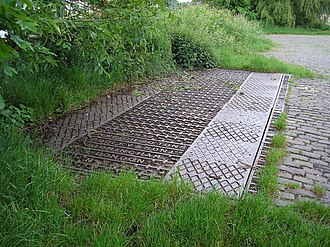 Otley railway station - Abandoned weighbridge in the grounds of the former station, 2008