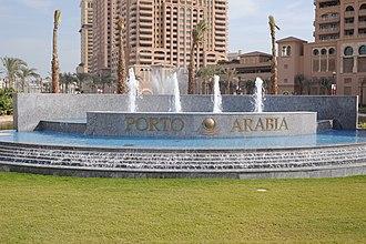 The Pearl-Qatar - Welcome sign to Porto Arabia
