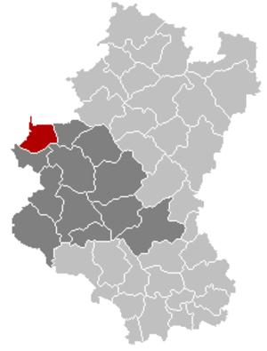 Wellin - Image: Wellin Luxembourg Belgium Map