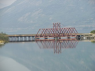White Pass and Yukon Route bridge in Carcross, Yukon 3.jpg