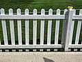 White picket fence at Bishop's Stortford Cricket Club, Hertfordshire.jpg