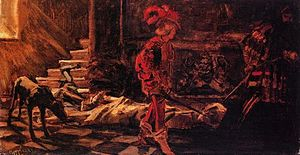 Wilhelm Trübner - The Death of Pope Alexander VI (1883)