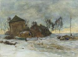 Willem de Zwart: Winterlandschap